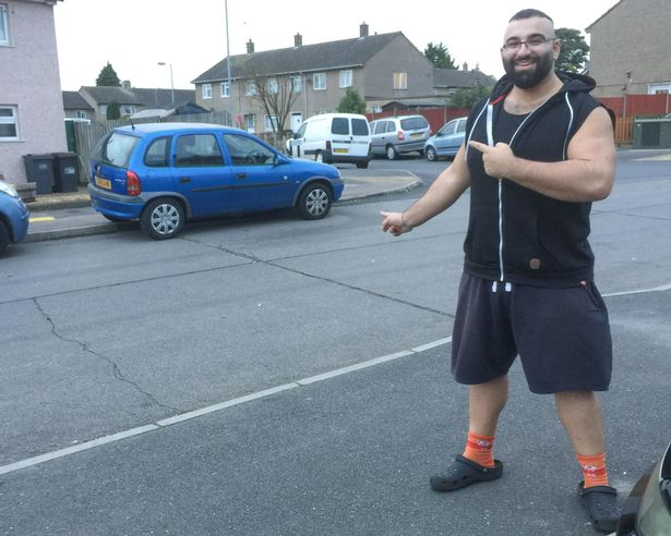 PAY WATCH INCREDIBLE MOMENT STRONGMAN LIFTS AND MOVES NEIGHBOURS CAR IN PETTY PARKING DISPUTE