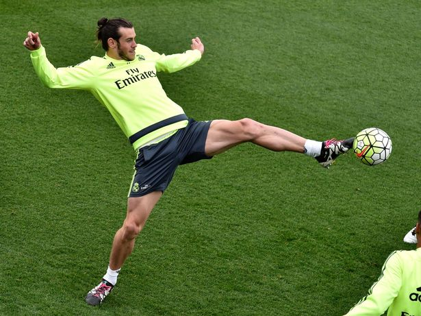 Real Madrid train ahead of their La Liga match against Real Sociedad