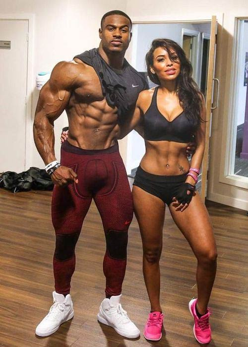 Simeon Panda with girlfriend Chanel Coco Brown
