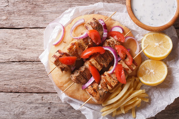 bigstock Greek Food Souvlaki With Vege 98115854