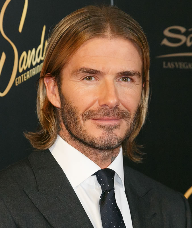 david beckham hair long w4er