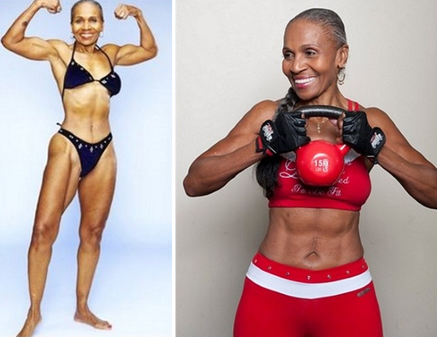 ernestine shepherd bikini diet workout weightlifting bodybuilder