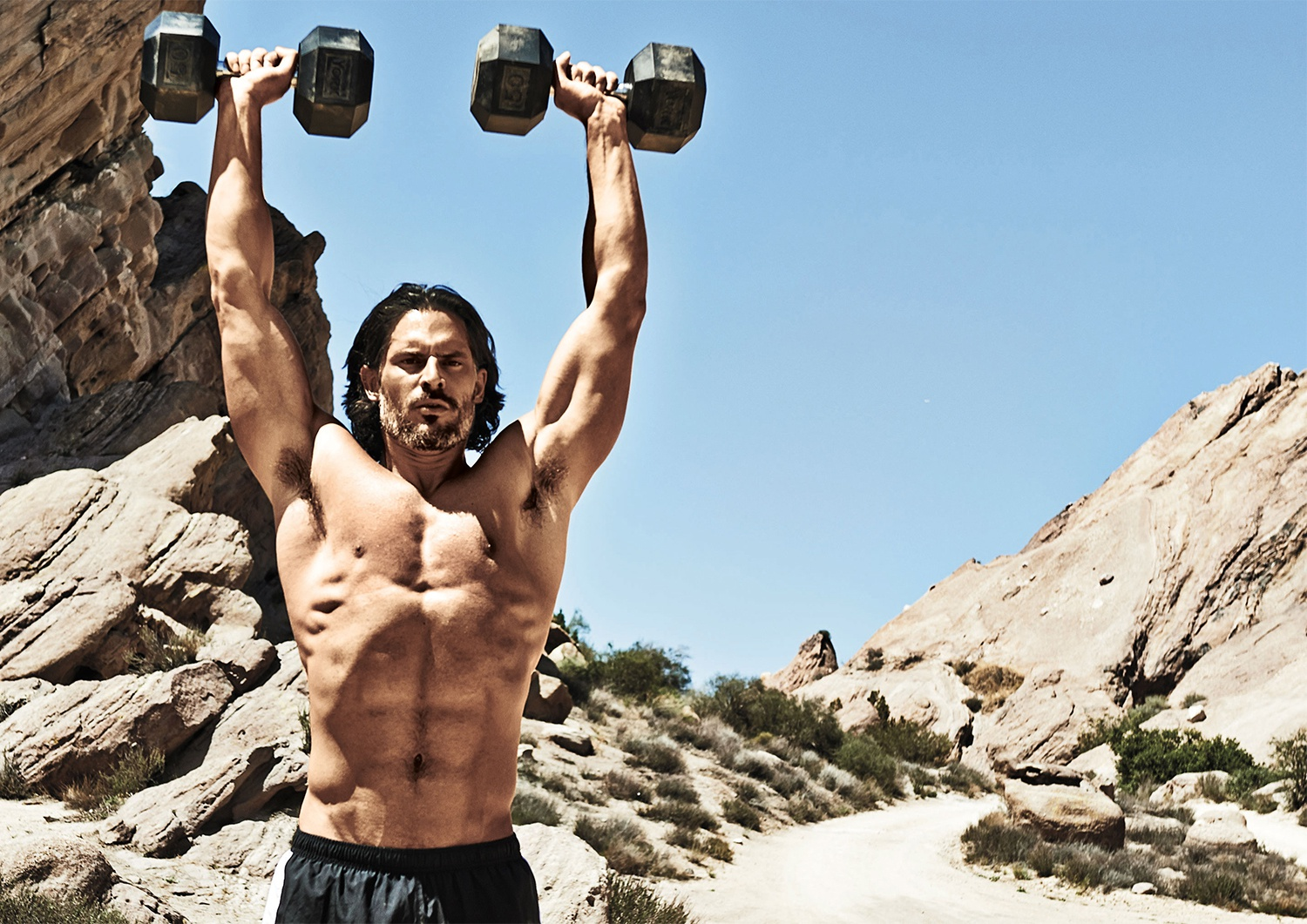 joe manganiello press dumbbell pxf9