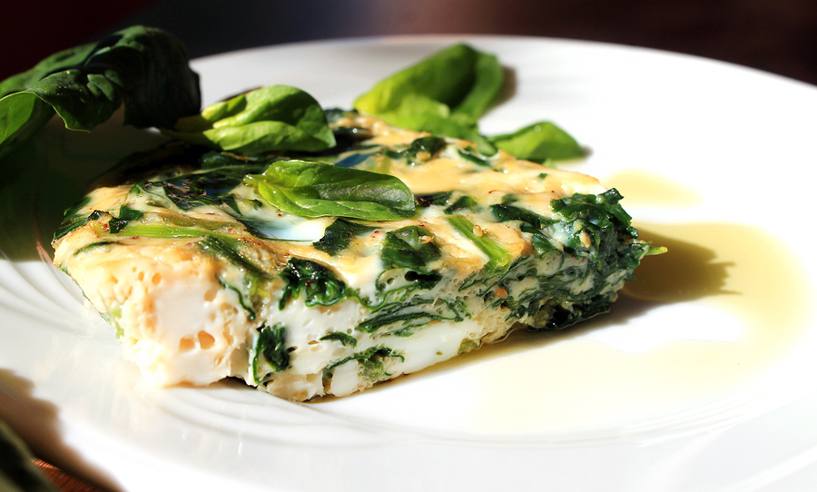 omelete spinach